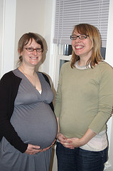 Two lovely pregnant ladies